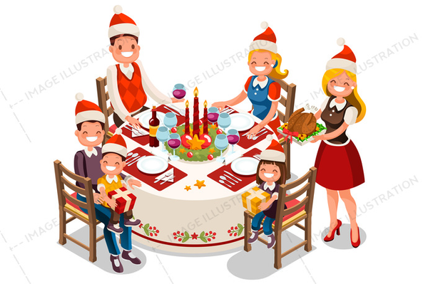 Christmas Day Clipart.Cartoon Christmas Dinner Clipart Free Images At Clker Com