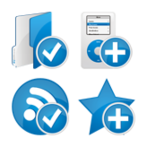 Blue Extended Icons Set 4x64 Preview 1 Image