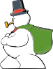 Snowman Side View Clip Art