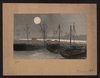 Sailboats Moored Under The Moon. Image