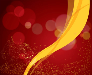 Freevector Red Background Vector Yellow Ribbon Image