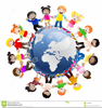 Free Clipart Of Children Holding Hands Around The World Image
