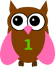 Pink Owl Olivia Birthday 4 Clip Art