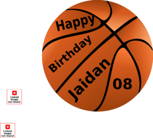 Happy Birthday Jaidan Basketball  Clip Art