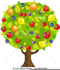 Free Clipart Of Fruit Tree Image