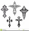 Crosses With Wings Clipart Image