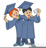 Free Students Graduating Clipart Image