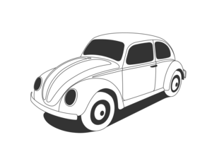 Vw Beetle Classic Black White Line Art Coloring Sheet Colouring Page Px Image