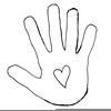Outline Of A Hand Clipart Image