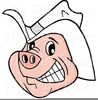 Pig Playing Guitar Clipart Image