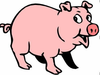 Pig Cartoon Clipart Image