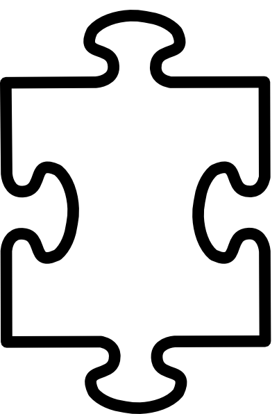 Puzzle Piece White Clip Art at