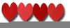 Love Heart Shapes Clipart Image
