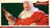Santa Drinking Alcohol Image
