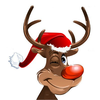 Animated Christmas Reindeer Clipart Image