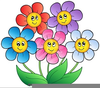 Flower Bunches Clipart Image