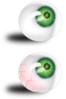 Eyeballs Green And Bloodshot Clip Art