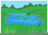 Duck In Pond Clipart Image