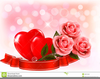 Roses And Hearts Clipart Image