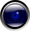 Blue Camera Lens Clip Art