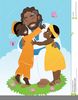 Children And Angels Clipart Image