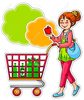 Animated Shopper Clipart Image