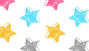 L Hand Drawn Stars Image