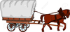 Horse And Covered Wagon Clipart Image