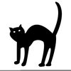 Animated Halloween Cat Clipart Image
