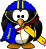 Penguin Lifeguard Clip Art