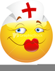 Cartoon Nurse Vector Clipart Image