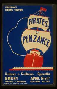 Cincinnati Federal Theatre [presents]  Pirates Of Penzance  [a] Gilbert & Sullivan Operetta Image