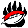 Bear Paw And Football Black Image