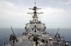 Uss Donald Cook (ddg 75), The First Surface Combatant To Fire Tomahawk Land Attack Missiles (tlam Image
