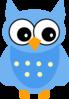 Blue Owl clip art
