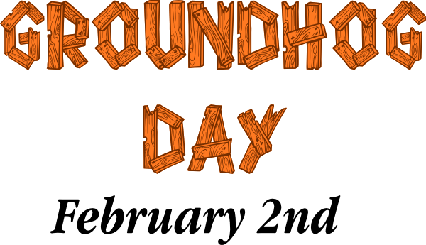 GROUNDHOG DAY Sign clip art - vector clip art online, royalty free ...