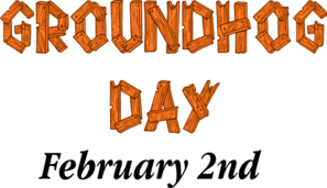 Groundhog Day Sign Clip Art