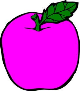 Magenta Apple Clip Art