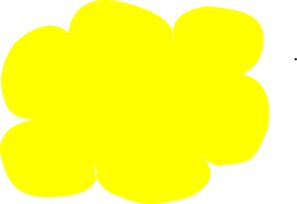 Yellow Cloud Clip Art