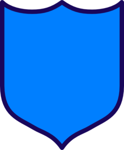 Dark Blue Shield Clip Art