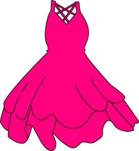 Pink Prom Dress on Pink Dress Clip Art   Vector Clip Art Online  Royalty Free   Public