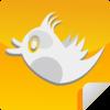 Orange Tweet Icon Clip Art