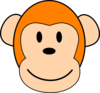 Orange Monkey Clip Art