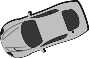 Gray Car - Top View - 200 Clip Art