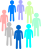 Population Color Group Clip Art