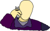 Man Answering The Phone Clip Art