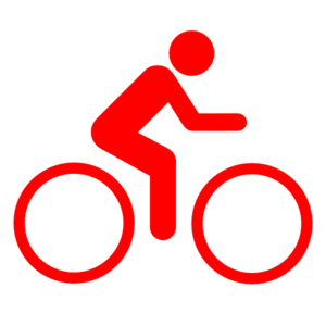 Bike Sign Red Clip Art