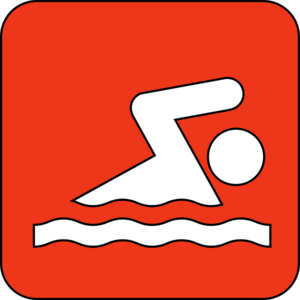 Swimming Symbol Red Clip Art
