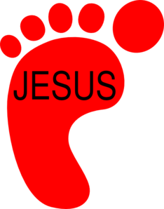 Red Footprint Clip Art