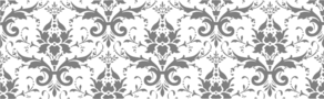 Damask Gray On White Clip Art